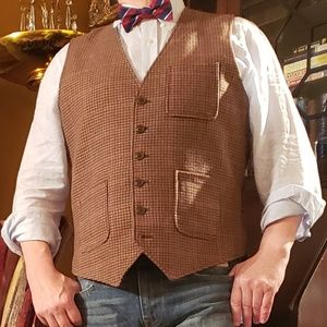 Beautiful  Prince of Wales plaid Tommy waistcoat